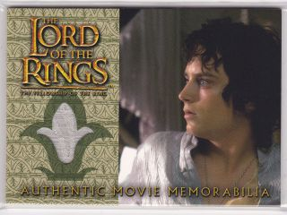 LORD OF THE RINGS FOTR COSTUME MEMORABILIA CARD FRODO ELVEN NIGHTSHIRT