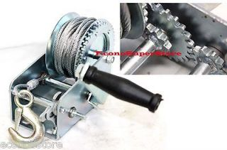 Gear Hand Winch Towing Boat Trailer w/ 33FT Steel Cable Hand Crank