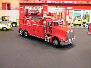 PETE PETERBILT 385 HEAVY DUTY SEMI CAB TOW TRUCK WRECKER 1/64 HEIL RED