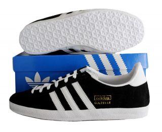 New Adidas GAZELLE TRAINERS Mens G13265 OG Black / White Size UK 6 7 8