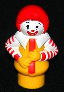 Vintage Fisher Price Little People Ronald McDonald Figure Toy 1989