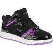 Fubu Girls Kelly F High Top Black Suede Purple Glitter Sneakers