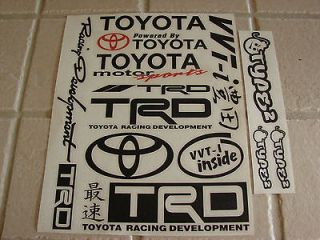 Werks Sticker Bomb Sheet, JDM, Toyota, TRD, vvti, racing, offroad