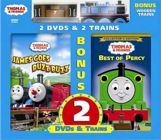 of Percy DVD, 2007, 2 Disc Set, with 2 Bonus Wooden Toy Trains
