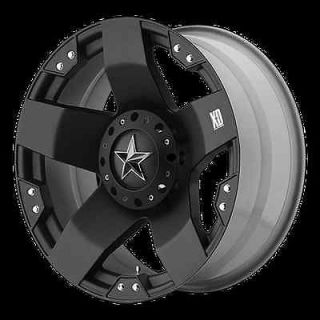 ROCKSTAR BLACK RIMS W/ 33X12.50X20 TOYO OPEN COUNTRY MT TIRES WHEELS