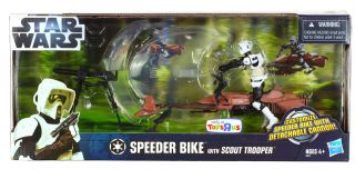 Star Wars Toys R Us Speeder Bike with Scout Trooper IN STOCK