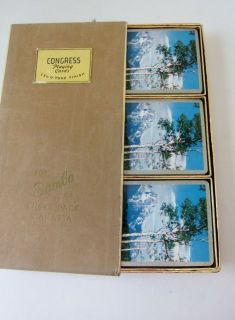Cards vintage CONGRESS Samba 3 deck CANASTA Boxed Set Celutone Triple