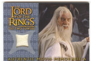 Lord Of The Rings The Two Towers Update Costume Card Gandalfs Silk