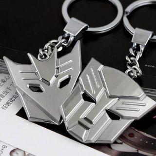 Deluxe Transformers Keychain Optimus Prime Decepticons Symbol Metal