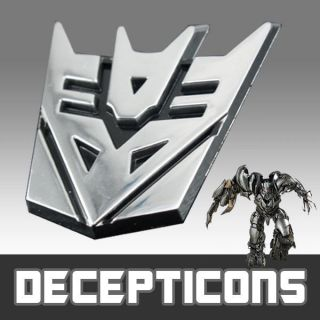 3D Car/auto Decepticon Transformer Logo Emblem Badge Chrome Decal