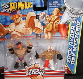 ZACK RYDER & REY MYSTERIO   WWE RUMBLERS TOY WRESTLING ACTION FIGURES