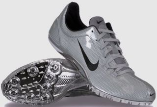 12.5 NIKE ZOOM JA Shiny Silver Black Track Field Spikes Shoes W 13