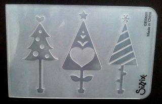 Embossing Folder CHRISTMAS TREES fits Cuttlebug Big Shot & Wizard