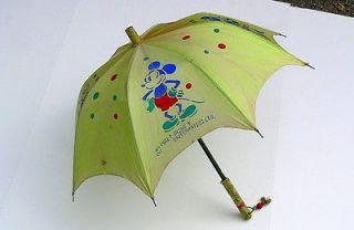 MICKEY & MINNIE MOUSE Walt Disney Ent CHILDS UMBRELLA parasol c1930s