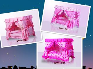 Luxury Pink Princess Dogs Cat Pet Bed House Handmade Gorgeous 3 Design