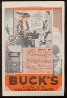 1921 Bucks Stove & range co vintage print ad