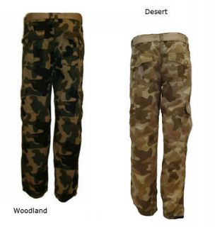 SOUTHPOLE SP Collection Mens Ripstop CAMO Cargo Long Pants 6 pocket
