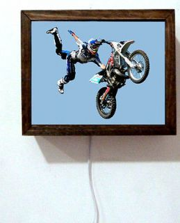 Motocross Motorcycle Dirt Bike Free Style Lighted Sign