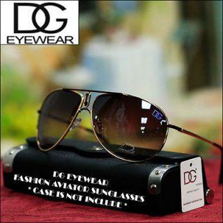 NEW Mens Womens DG EYEWEAR Designer Fashion Aviator Sunglasses Brown
