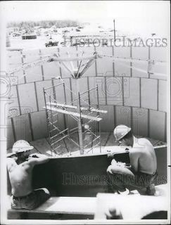 Photo Navy Seabee steel workers jet fuel storage tanks South Vietnam