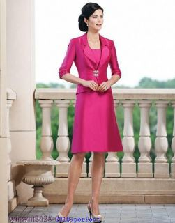 2012 Stylish Suits & Outfits 3/4 Sleeve Mother Of The Bride Dress Knee
