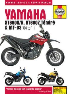 Yamaha XT660 XT660Z Tenere MT03 2004 11 Haynes Manual