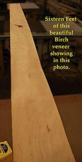 Birch Wood Veneer 12 wide X 10 feet long NEW AND VERY NICE   Roll