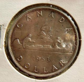 Canada Silver Dollar high grade 1953 A UNC ???