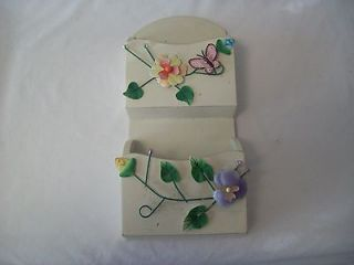 slots/pockets 3 D Floral butterfly Wall Mail Organizer/Holder