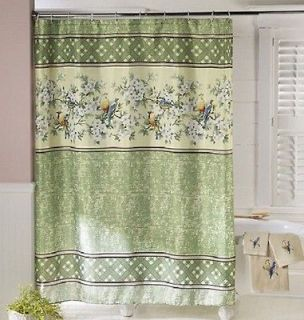 Green Fabric Shower Curtain On Popscreen