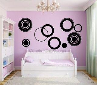 Circles Vinyl Decal Wall Stickers Teen Girl Boy Room Modern Wall Art