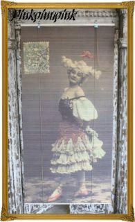 Tattoo Pinup Vintage Blind Shade Window Gypsy Showgirl Shabby Goth