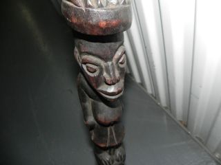 Arts of Africa   Bamileke Walking Stick   Ivory Coast   40 Height x 4