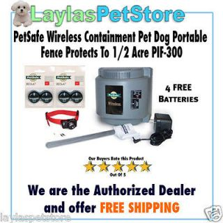 Wireless Containment Pet Dog Portable Fence Protects To 1/2 Acre