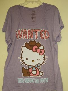 Hello Kitty Plus Size Purple ( Kitty Wanted for Being So Cute) T shirt