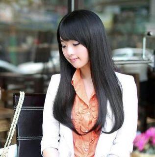 Fashion long Straight Natural hair womens wigs Fancy Dress Wig Like