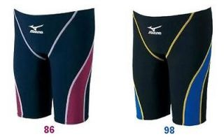 FINA APPROVED JAPAN MIZUNO MX 01 Racing Jammer Swimsuit BLACK BLUE