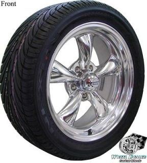 17x7 8 POLISHED REV CLASSIC WHEELS & 215 225 NEXEN TIRES FORD FALCON 5