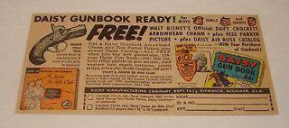 1956 DAISY GUNBOOK bb gun air rifle ad~Fess Parker