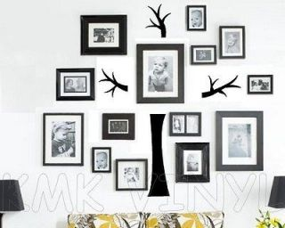 Vinyl lettering FAMILY PHOTO TREE decal words sticker art wall