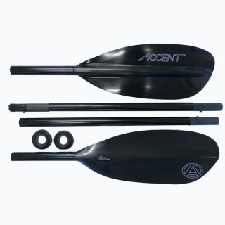Accent Kauai Carbon 4pc Breakdown Kayak Paddle w/Adjustable Feathering