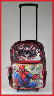16 Spiderman Rolling Backpack Roller/Bag/Wheeled/Boys