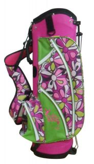 Babe Ladies Pink Flowered Golf Bag Womens Margaritaville Stand Cart