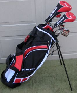 NEW Complete Tall Mens Left Handed Golf Club Set & Bag Driver Wood