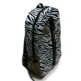 black and white zebra saddle bag,backpack bags ,reversible to black