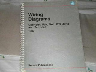VW WIRING DIAGRAMS,CABRI​OLET,FOX,GOLF,​GTI,JETTA,SCIR​.
