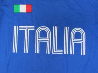 Shirt SIZE L Large Soccer Italia National Team World Cup FIFA