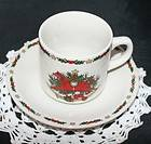 Ten Strawberry Street O Christmas Tree Dinnerware China Cup and Saucer