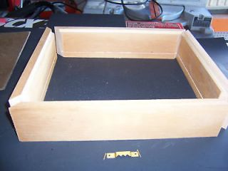 Wooden craft kit 12X12 display case shadow box kit outside dimensions