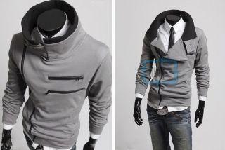 Korean Mens Long Sleeve Slim Fit Cardigan/Jacket/Coat/Sweatshirt/Top